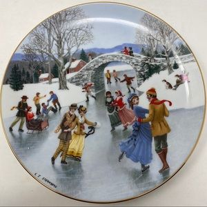 Danbury Mint An Old Time Country Christmas Plate